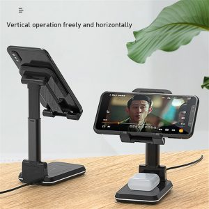 10W Wireless Charger Stand Telescopic Desktop Phone Bracket Qi Wireless Charging Cell Phone Holder for iPhone Xiaomi Samsung