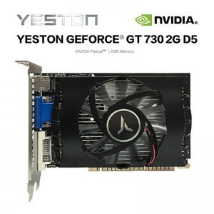 Yeston Geforce GT730 2G D5 VA Graphic Card NVIDIA Pascal 902-5012MHz 2G/DDR5/64bit for Game Working (China)