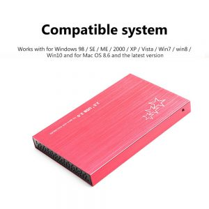 2.5 HDD enclosure USB 3.0 to SATA SSD external case 5Gbps mobile HDD enclosure, 500G/1T/2T for laptop HDD