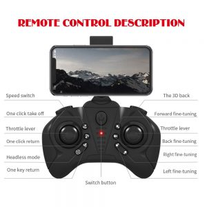 Lozenge Upgrade HJ66 RC Drone Remote Control Drone Helicopter Quadcopter Drone With Camera 4K Camera Toy with Storage Bag