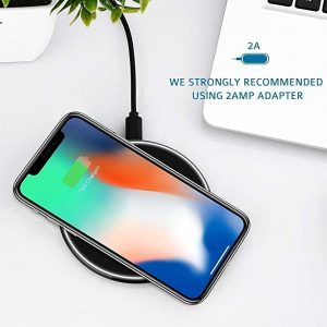 10/7.5/5W Fast Wireless Charger for Samsung Galaxy S10 S9 / S9 + S8 Note 10 USB Qi Charging Pad for iPhone 11 Pro XS Max XR Plus