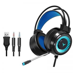 Gaming Headsets Surround Sound Stereo Wired Earphones USB Microphone LED Light PC Laptop Game Headphones 3.5mm Jack For PC Game