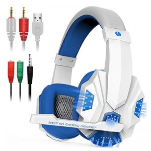 Professional Led Light Gamer Headset For Computer Gaming Headphones Adjustable Bass Stereo PC Wired Headset With Mic Gifts