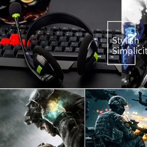 New Gaming Headset 3.5MM Over-ear Stereo Gaming Headphone Microphone For N-switch Men's Headphone High Sound Quality Headset