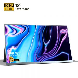 15″ Thin Monitor Laptop 1080p HDR IPS Gaming Monitor with Type-C HDMI for Samsung PS4 XBOX LCD Screen Gaming (As shown)