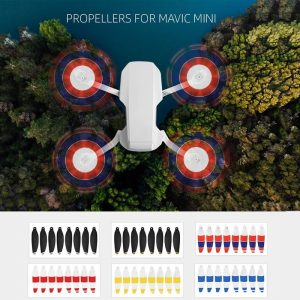8PCS Quick Release Propeller Blades Foldable Low Noise Propellers For DJI Mavic Mini RC Drone Accessories