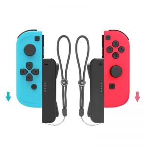 1 Pair Gaming Accessories Wrist Strap Hand Rope Lanyard for Nintend Switch Joy-con Fitness Boxing Game Assit Tool Grip Handle (Black)