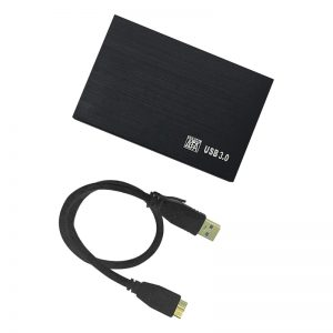 2.5 Inch 320GB Ultra Slim Portable External Hard Drive USB3.0 HDD for  One Console, PC, Laptop (Black 320GB)