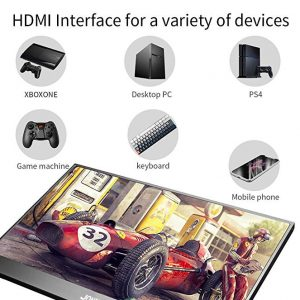 15.6 Inch FHD 3840X2160 4K IPS Portable Gaming Monitor with USB-C Ports for Game Consoles PS3 PS4 Macbook 13.3″ Mini PC Computer