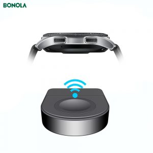 Bonola Portable USB Samsung Watch Charger For Galaxy Watch 46/42mm Watch USB Charging For Samsung Active 2/1 Travel Charging (Black)