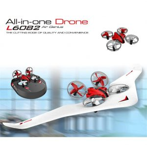 L6082 DIY All in One Air Genius Drone 3-Mode With Fixed Wing Glider Attitude Hold RC Quadcopter RTF Toys For Kid's And Adult