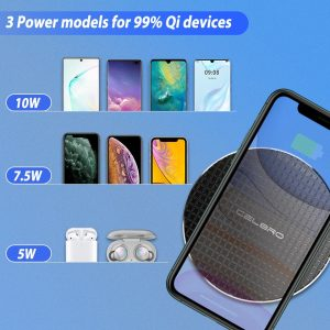 10W 5W Qi Wireless Charger Stand Charging Pad Receiver For Google Pixel 4 3 XL Doogee S90 S95 Leagoo S10 Huawei Samsung