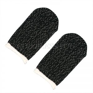 1Pair Sweat-Proof Knitted Fabric Finger Cover Game Touch Screen Thumb Game Pad Finger Sleeves for Gaming Accessories Kit