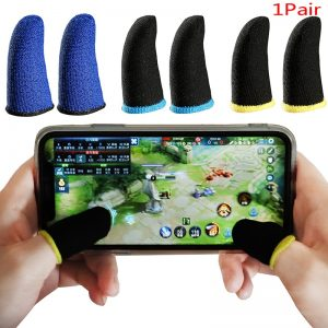 2pcs/set Mobile Game Sweat-proof Fingers Gloves Touch Screen Thumbs Finger Sleeve for PUBG Phone Gaming Accessories