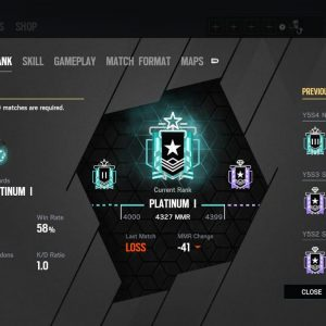 XBOX Rainbow six siege Account LEVEL – 313 with 2 Champion and 5 Diamonds + Many Pro Leagues + Many Old Skins/Charms + Many Black Ices